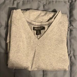 Banana Republic Men's Large Luxury Sweater Grey